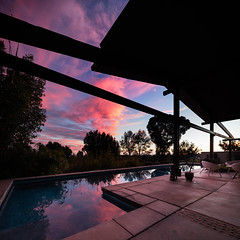 Now THAT's a sunset... (Chimay Bleue) Tags: house modern la san sandiego diego pacifica jolla midcentury