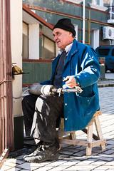 At work. Repairman. (DinjaPhoto) Tags: street man tile gate repair drill repairs screwdriver d7100