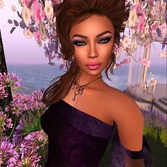 FFL Exclusive! (GiGi Glamista) Tags: purple feather lavender romantic gown gems mock elegance semiprecious ffl glamorize fashionforlife glamaffair poshpixels rezology