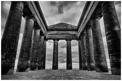 The Penshaw Monument(1) (S.R.Murphy) Tags: old blackandwhite bw building monument monochrome architecture column urbanlandscape penshaw penshawmonument greekarchitecture greekcolumn doriccolumn canon24105mm inexplore canon6d niksilverefexpro earlofdurhammonument greekfolly feb2016 flickexplore26022016