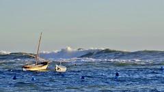 the sea storm ... ( 1 ) (miriam ulivi) Tags: sea nature boat barca italia mare waves onde seastorm nikond3200 mareggiata miriamulivi sestrilevnate