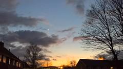 The Moon (gemmasmith665) Tags: street city trees winter light sunset sky moon nature beautiful clouds skyscape cityscape natural dusk vivid