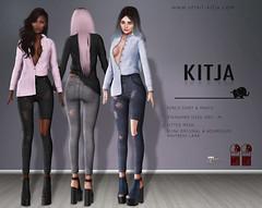 KITJA - Kerca Outfit (ᴋɪᴛᴊᴀ) Tags: life fashion 3d secondlife second physique hourglass maitreya slink meshbody kitja kustom9 fittedmesh