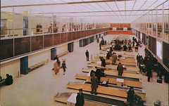 Streamlined Customs Facilities, New York International Airport (SwellMap) Tags: architecture plane vintage advertising design pc airport 60s fifties aviation postcard jet suburbia style kitsch retro nostalgia chrome americana 50s roadside googie populuxe sixties babyboomer consumer coldwar midcentury spaceage jetset jetage atomicage