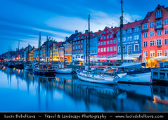 Denmark - Copenhagen - Nyhavn - Colourful 17th century waterfront at Dusk - Twilight - Blue Hour - Night ( Lucie Debelkova / www.luciedebelkova.com) Tags: world trip travel vacation holiday tourism beautiful wonderful copenhagen denmark photography nyhavn nice fantastic perfect europe tour place awesome sightseeing eu visit location tourist best journey danish stunning destination sight traveling lovely scandinavia visiting exploration incredible region danmark kopenhagen touring breathtaking kbenhavn northeurope northerneurope kodan kingdomofdenmark kongerigetdanmark luciedebelkova wwwluciedebelkovacom
