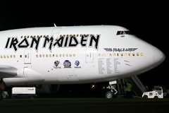 Ed Force One - Boeing 747-428 TF-AAK @ Cardiff Rhoose (Shaun Grist) Tags: wales night airport aircraft aviation cardiff airline boeing ironmaiden 747 aeroplanes jumbo cardiffairport rhoose avgeek cwl airatlantaicelandic edforceone egff tfaak