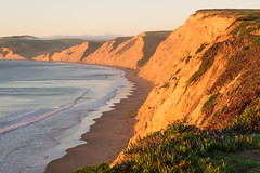 Pt. Reyes National Seashore (Eleanor Briccetti) Tags: ocean california beach nature sunrise unitedstates united cliffs marincounty drakesbeach states pt drakes reyes ptreyes ptreyesnationalseashore