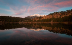 Dawn Reflections (Patrick.Russell) Tags: morning mountain lake mountains reflection fall nature water sunrise landscape outside outdoors dawn nikon colorado co wilderness tranquil daybreak highcountry d300 cloudsstormssunsetssunrises lightstoke