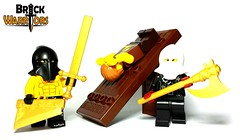 March 2016 - Executioner Restock (BrickWarriors - Ryan) Tags: castle lego medieval fantasy armor sword axe hood blade custom weapons helmets minifigure guillotine executioner brickwarriors