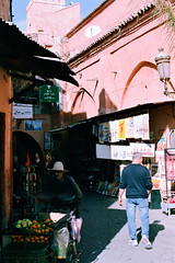 (kiles64) Tags: travel film nikon fuji market trolley tourist morocco marrakech medina
