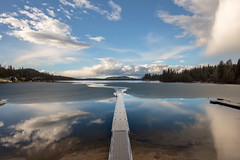 Home II (Cody Schroeder) Tags: blue winter sky lake ice water clouds canon washington clarity calm clear pacificnorthwest loonlake f2 12mm pnw eosm mirrorless rokinon pnwlife