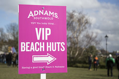 VIP beach huts sign (Adnams) Tags: beer theboatrace ghostship 2016 adnams furnivallgardens thebnymellonboatraces