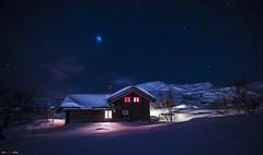 A winter fairy tale... (bent inge) Tags: winter white snow ski norway stars cabin nightshot telemark hytte haukeli norvge vgsli lafte norwegianmountains nikond810 norwegianwinter bentingeask
