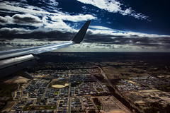 Flight QF 793, 31. Jan. 2016 (betadecay2000) Tags: blue sea sky cloud clouds meer heaven cloudy outdoor top den himmel wolke wolken australia darwin perth western end boeing australien blau flugzeug landung flug ber ozean hhe indischer westaustralien stratosphre weltmeere