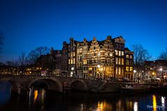 Brouwersgracht (Vishari Beduk) Tags: blue panorama water amsterdam waterfront hour brouwersgracht