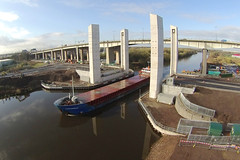 Fehn Capella (North Ports) Tags: bridge port manchester canal high construction ship lift motorway group level fehn western infrastructure gateway barton peel uav scheme salford ports drone capella m60 mmsi gopro 305094000