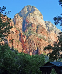 Cabin with View, Zion Sunset 4-14 (inkknife_2000 (6 million views +)) Tags: usa nature sunrise landscapes utah cabin hiking zionnationalpark nationalparks daybreak firstlight utahnationalparks redrockformations dgrahamphoto