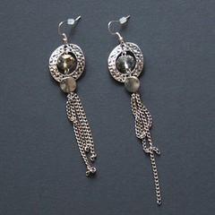 anneaux (fabrikarine) Tags: fleur vintage collier bijoux plastic boucle fou cuivre doreille