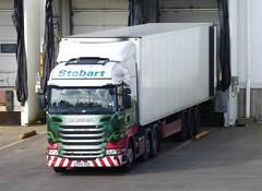 H2424 - PK15 ZKB (Cammies Transport Photography) Tags: truck charlotte centre tesco lorry abigail eddie livingston distribution scania esl pk15 stobart zkb eddiestobart r450 pk15zkb h2424