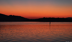 Waiting for Sunrise (Merrillie) Tags: sea sky mountains nature water sunrise dawn bay nikon scenery waterfront silhouettes australia views nsw daybreak brisbanewater woywoy seaviews d5500 nswcentralcoast centralcoastnsw