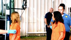 h50503_01757 (UJB88) Tags: county orange women uniform prison jail facility jumpsuit correctional restrained