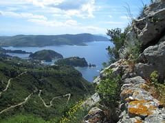 20150523_115757LC (Luc Coekaerts from Tessenderlo) Tags: sea mountain seascape public rock landscape nobody greece creativecommons winding corfu westcoast seaview vak grc windingpath cc0 karousades krni coeluc vak201505corfu