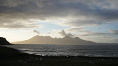Scottish islands sunset time lapse off the isle of Eigg