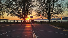 Kits Beach [104] (yegor454) Tags: sunset sun canada mountains color tourism beach sports basketball mobile vancouver landscape outside outdoors photography golden perfect energy colorful exposure bc phone emotion outdoor expression columbia explore hour experience kitsilano british 365 169 nexus 6p ktis
