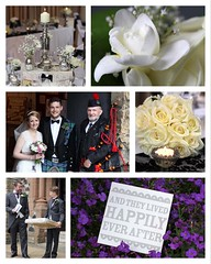 Wedding Bouquets & Flowers (Sam Rigby Photo) Tags: wedding tiara church rose square groom bride candles kilt veil squareformat bagpipes weddingdress weddingday ushers bagpiper diamante weddingphotography orderofservice tlite femaleweddingphotographer iphoneography instagramapp tablesdecorations