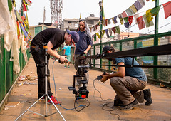 Shooting on Delhi expressway Bridge (das.department) Tags: china india freedom humanity refugees delhi oppression protest documentary tibet identity independent lowbudget liberation feature ethnicity featurefilm selfimmolation dorjee homesickness kinofilm filmproduktion clashofcultures pawo