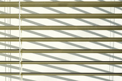 Venetian blind (Jan van der Wolf) Tags: shadow white abstract monochrome lines horizontal cord shadows graphic blind minimal venetian simple parallel schaduw wit minimalistic rhythm lijnen venetianblind schaduwen luxaflex monochroom koord simpel ritme zonwering jaloezie map120460v