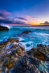 Electric Maui Sunset (brandon.vincent) Tags: ocean sunset color electric hawaii lava rocks pacific crash cove wave maui makena