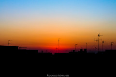 Colorful sunset (BryzePhoto) Tags: life light sunset sky italy panorama orange sun cute art love colors landscape lights amazing colorful tramonto violet roofs cielo land sicily luci moment lovely sole emotions silhoutte paesaggio clearsky sera colorexplosion campobellodimazara