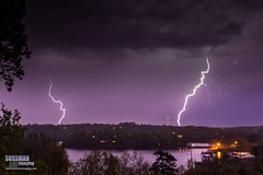 Double Lightning (The Suss-Man (Mike)) Tags: longexposure sky storm nature rain night clouds georgia unitedstates gainesville thunderstorm lightning thunder slowshutterspeed lakelanier lightningstorm hallcounty weatherphotography thesussman sonyslta77 sussmanimaging