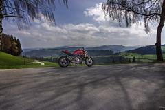 Toggenburg, Springride (rockymotard) Tags: alps monster swiss motorbike motorcycle ducati sntis 1200s toggenburg