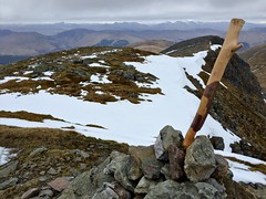 Summit - view north (grecophile_1) Tags: snow mountains walking scotland view hills april trossachs munro stucachroin