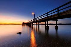 Sunset at Crescent beach pier, Surrey BC, Canada (charliehwang) Tags: sunset pier crescentbeach goldenhour