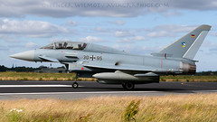 Luftwaffe Eurofighter. (spencer.wilmot) Tags: germany airplane fighter aircraft aviation eurofighter typhoon airbase militaryaviation luftwaffe wbg taxiway ntm tigermeet germanairforce 3095 airside ef2000 etns schleswigjagel