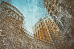 Concentration (Khuroshvili Ilya) Tags: madrid street sky urban building art architecture facade chaos ngc perspective glitch fragment
