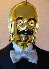 C-3 PO (sharon'soutlook) Tags: portrait male robot costume bowtie moustache humanoid c3po 2014 seethreepio humanoidrobot steampunkempiresymposium