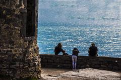 115#365 BLU (Fabio75Photo) Tags: people panorama woman landscape donna mare blu tre calma uomini fortezza mattoncini