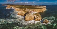 Sagres lighthouse (atroy9) Tags: sunset seascape portugal landscape waves aerial algarve aerials sagres drone dji