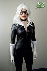 IMG_8731 (Neil Keogh Photography) Tags: white black female blackcat comics mask boots cosplay gloves wig cosplayer collar marvel zip marvelcomics jumpsuit manchesteranimegamingcon2016
