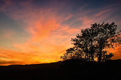 Over the hills (Fabio Polimadei) Tags: sunset sky colors silhouette clouds landscape nikon tripod tuscany