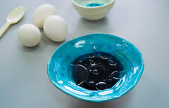 ready to dying easter eggs! (Helen Silivren) Tags: blue easter japanese diy ceramics handmade turquoise teal coloring eggs cood