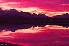 reflectionsInTheMountains (ant 52) Tags: sunset sky sun mountain nikon d5100