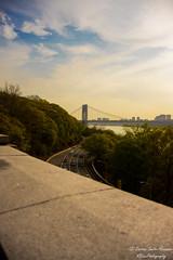 George Washington Br. (ogblaxz) Tags: road newyorkcity sunset sky urban skyline landscape nikon cityscape outdoor bridges georgewashingtonbridge washingtonheights flickrnyc nikond600 nikonphotography