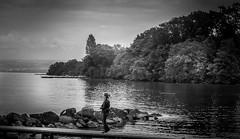 Lac Leman (seerpixels photography) Tags: travel blackandwhite stilllife lake seascape france monochrome yvoire lakeleman