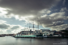 DSC_8561 (opnwong) Tags: england water clouds river bristol ship waterfront ngc severn 2016 ssgreatbritian leefilter leebigstopper cloudsstormssunsetssunrises