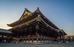 Higashi Honganji (ErikFromCanada) Tags: sunset japan temple evening kyoto afternoon angle wide large sunsetting a7r